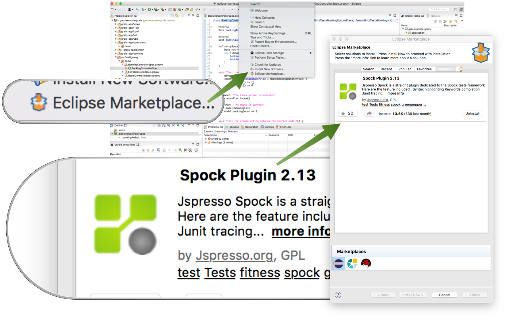 Eclipse Spock Plugin